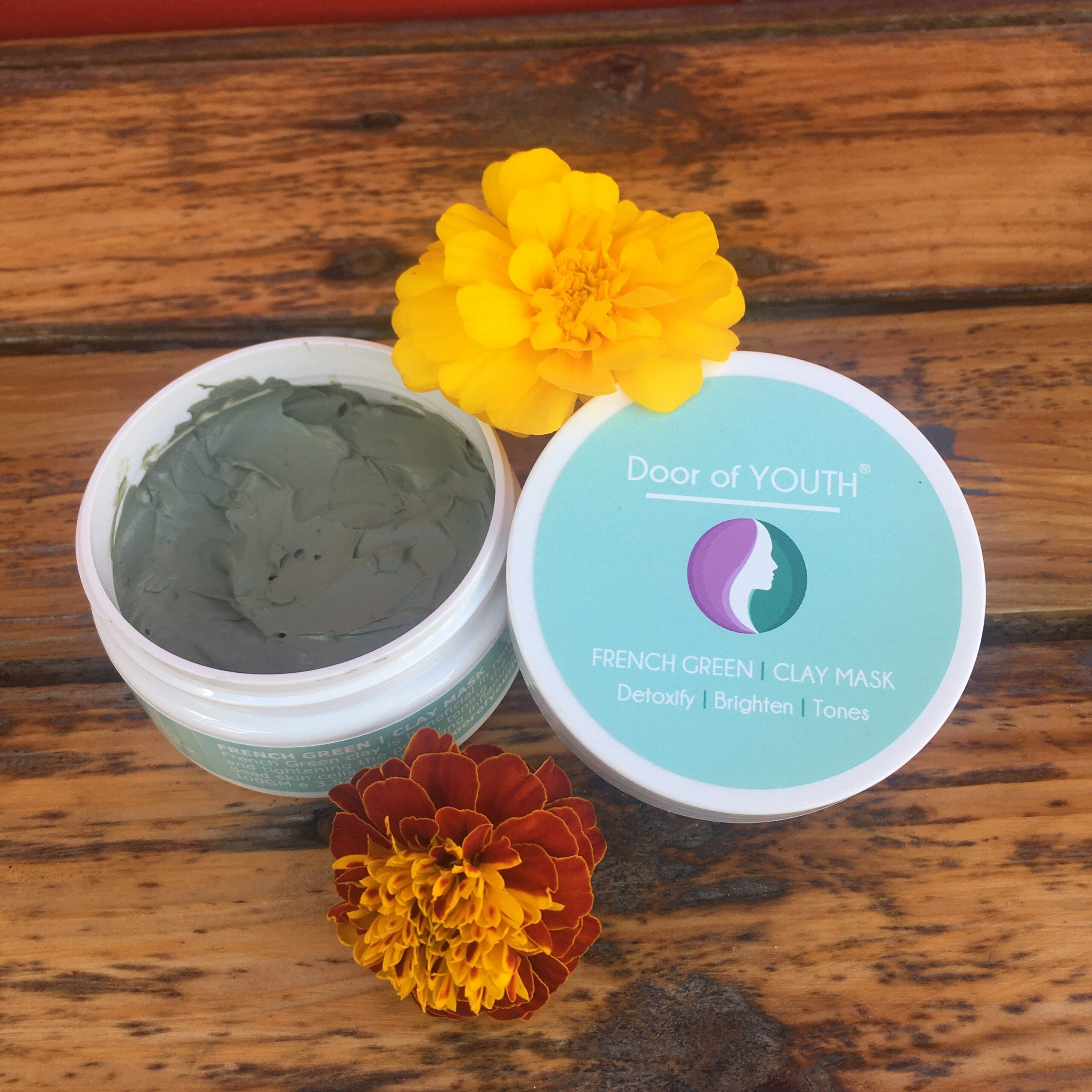 French Green Clay Mask 100ml skincare | Door of Youth