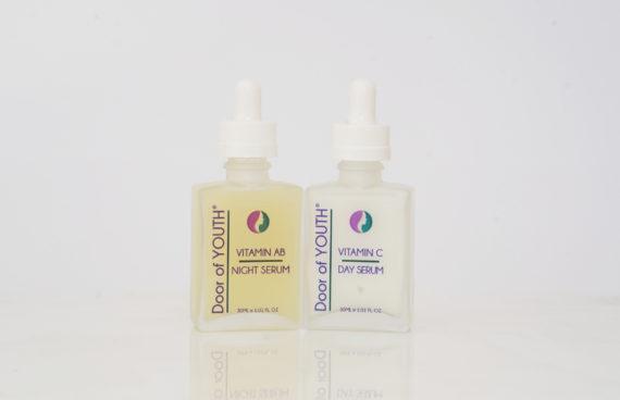 Vitamin C & AB Serum Duo Pack With Skin Needling Roller | Door of Youth